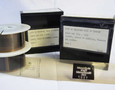 Bradford City's Roll of Honour Microfilm reels