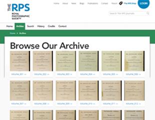 RPS digital archive website