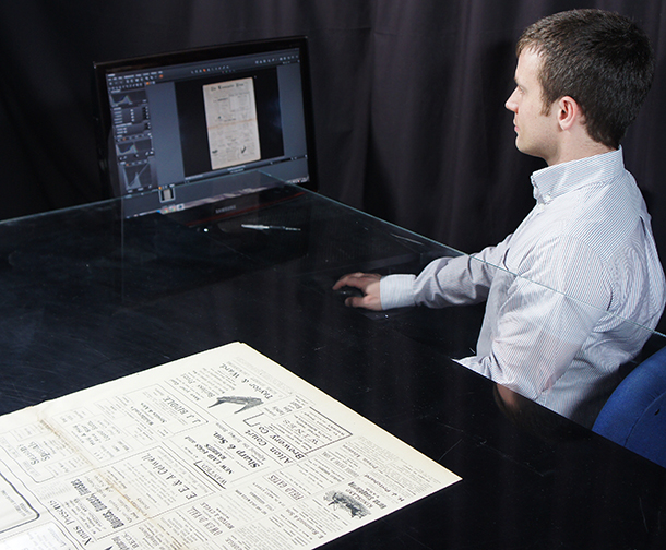 James Scanning Newspaper Archive