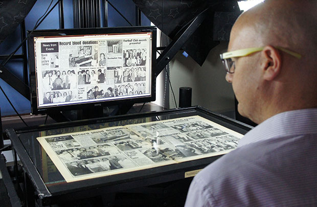 Mark scanning newspaper archives