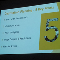 Historic Libraries Forum digitisation planning presentation