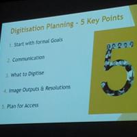 Historic Libraries Forum digitisation planning presentation