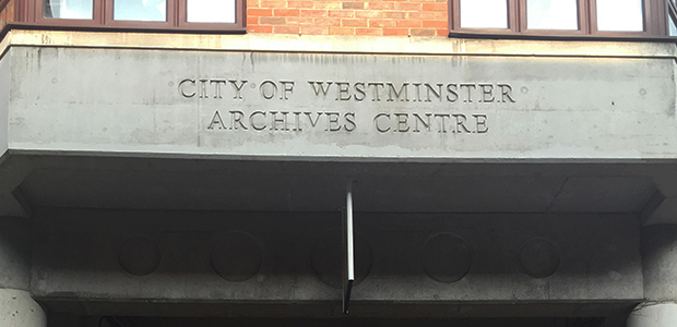 Westminster archives centre entrance