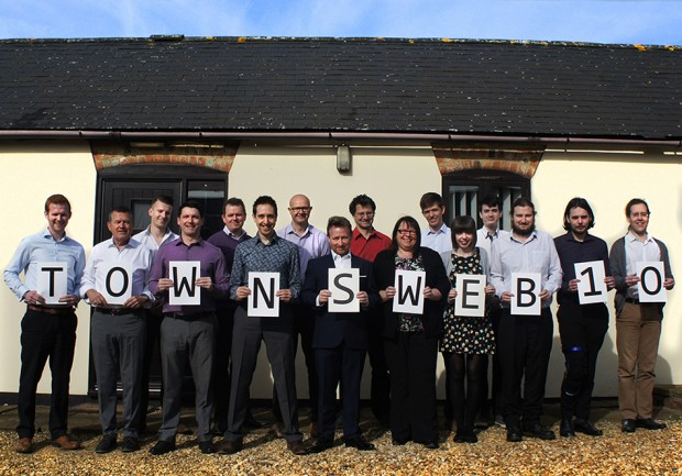 The TownsWeb Archiving team celebrating 10 years of digitisation