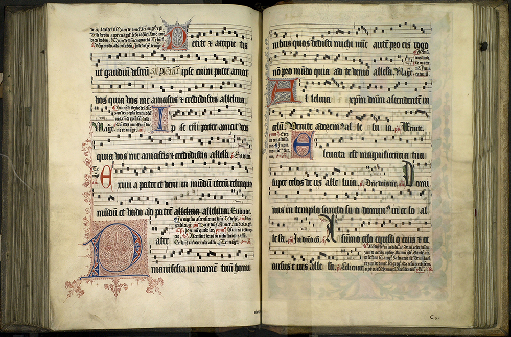 Digitised image from Radley College's 600 year old Antiphonal