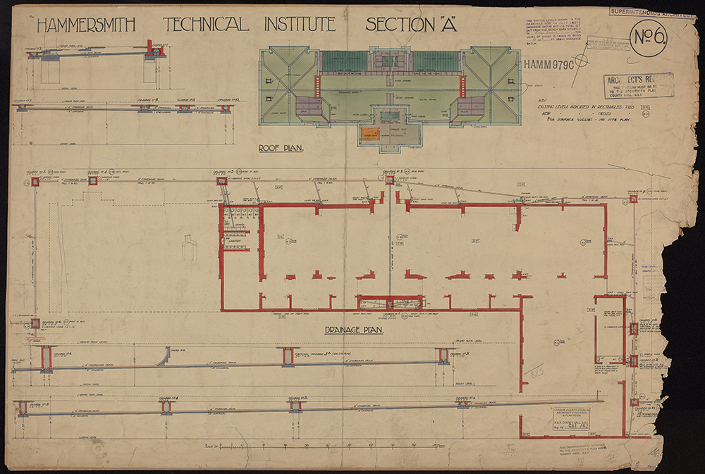 University-Arts-London-digitised-plan-Hammersmith-Technical-Institute