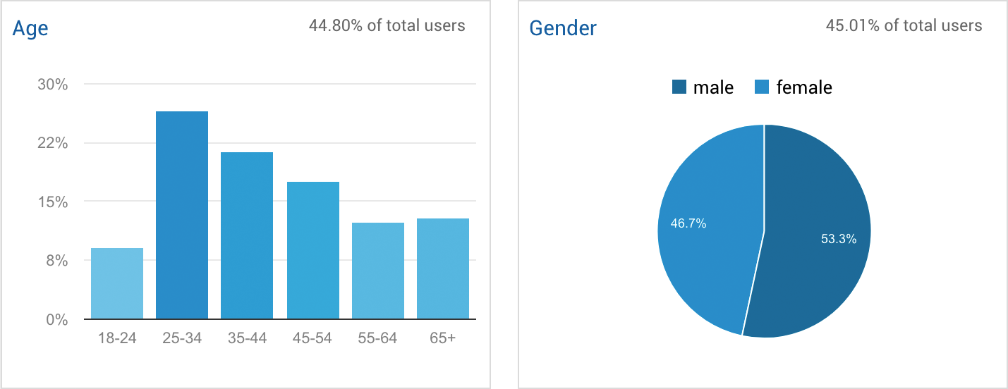Google Analytics Demographics Report