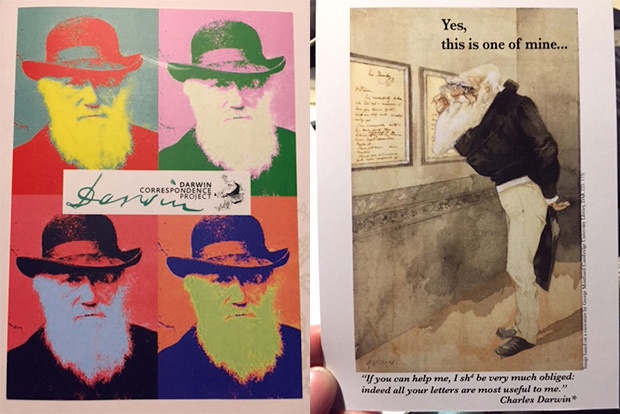 Promotional Postcards for the Darwin Correspondence Project